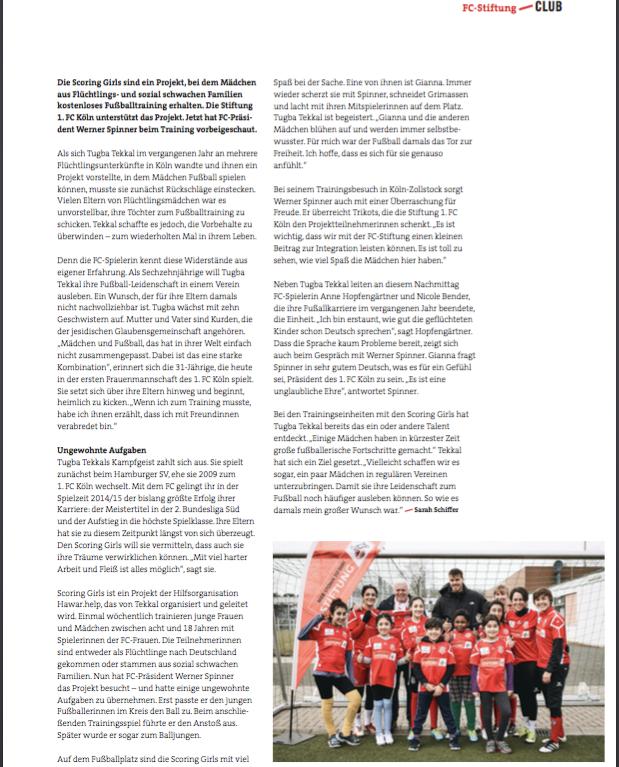Seite 2 des Artikels im Geisbockecho