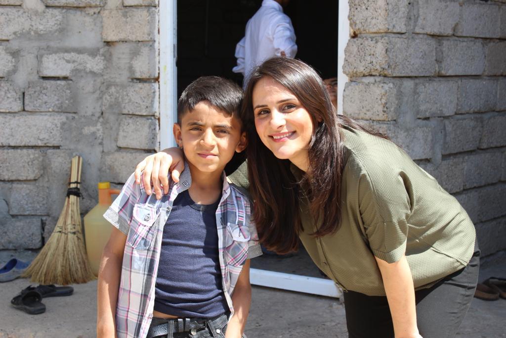 Háwar.help-Mitgründerin Tezcan Tekkal im Irak.