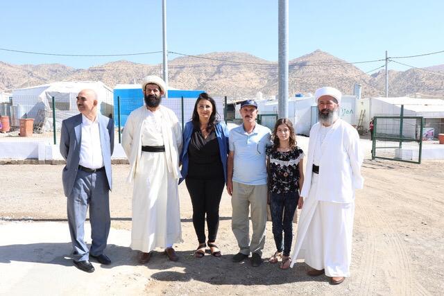 Háwar.help Gründerin und Vorsitzende Düzen Tekkal bei der Eröffnung des Empowerment Centers im Irak.